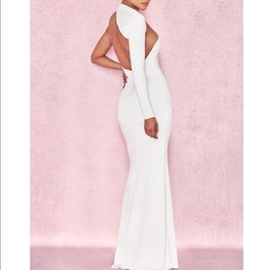 "6f96fc88c04a1 House of CB Dresses - HouseofCB ""merveille white wrap sleeve maxi dress"